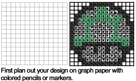 Simple graph paper designs