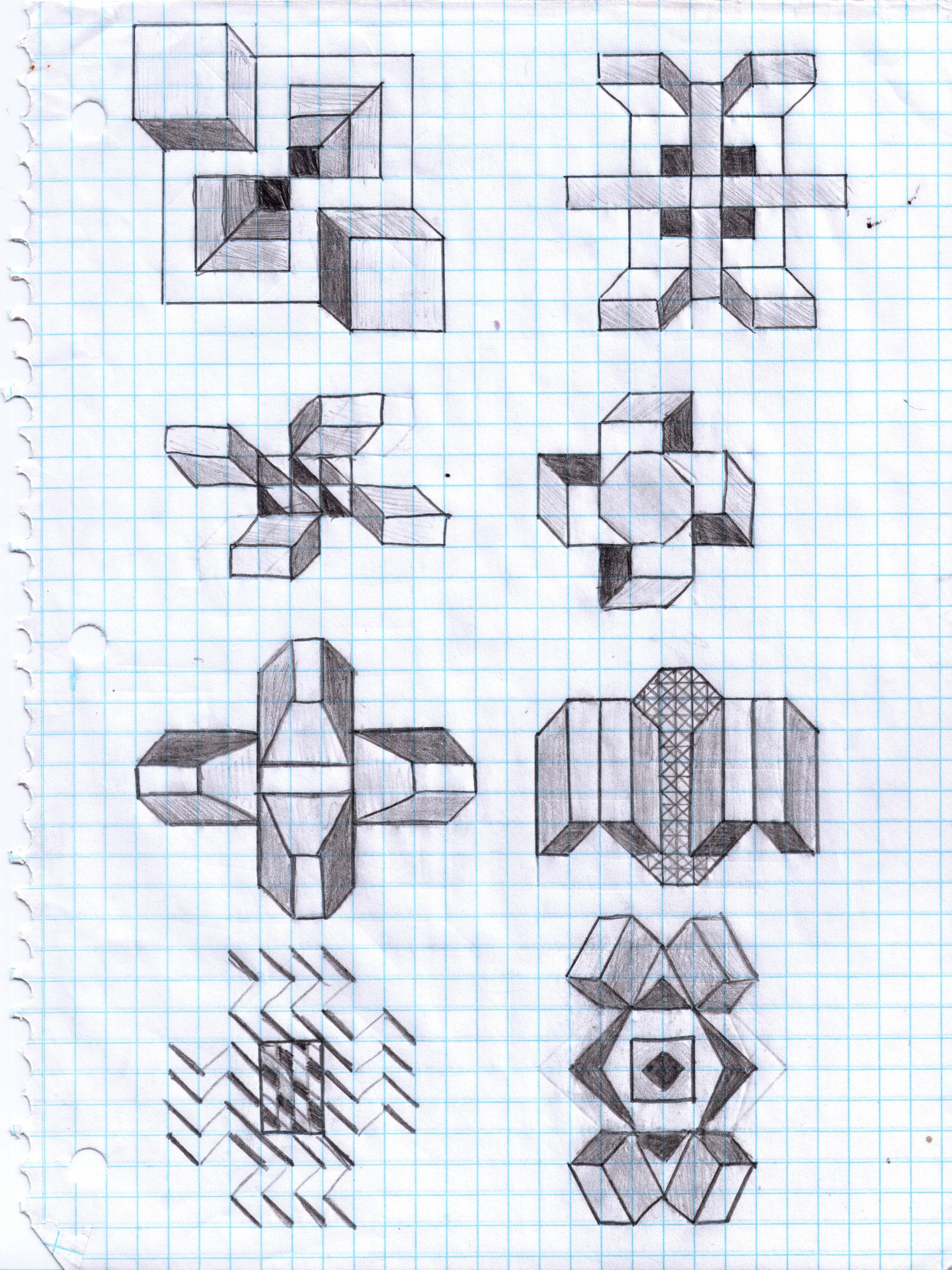 17 Graph Paper Art Designs Images - Cool Graph Paper Art ...