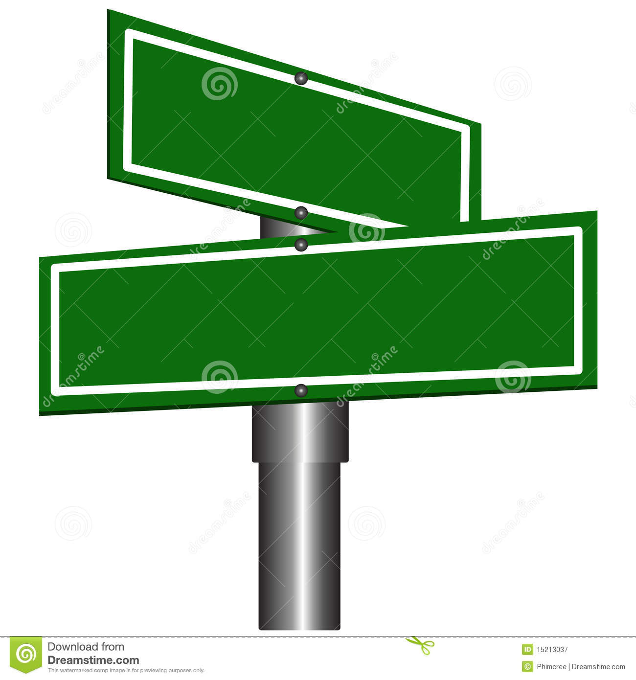 Corner Street Sign Clip Art