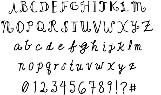 14 Cute Handwriting Fonts Images - Cute Cursive ...