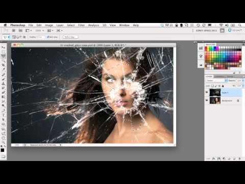 Dramatic Broken Glass Photoshop