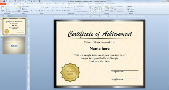 13 Microsoft Certificate Templates Free Images Free Microsoft