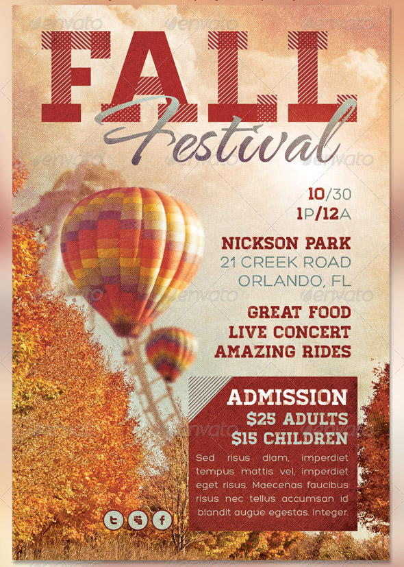 fall festival flyer events archives i square