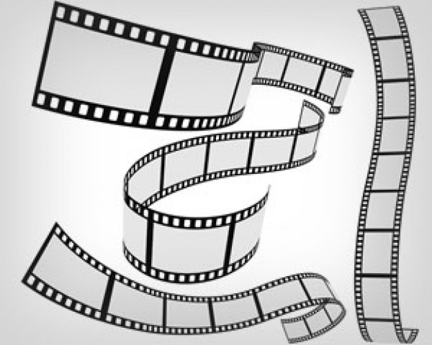 14 Movie Roll Film Vector Images