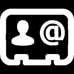 Free Contact Icon White