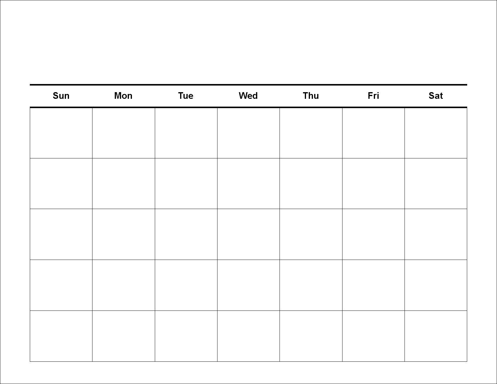 Print Blank Calendar.16 Blank Calendar Template Images Printable Blank Monthly Calendar