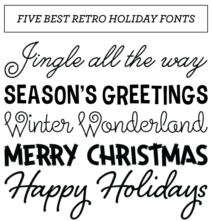 15 Holiday Party Font Images