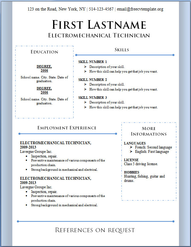 18 Free Templates To Download Images - Free Resume Cv Template