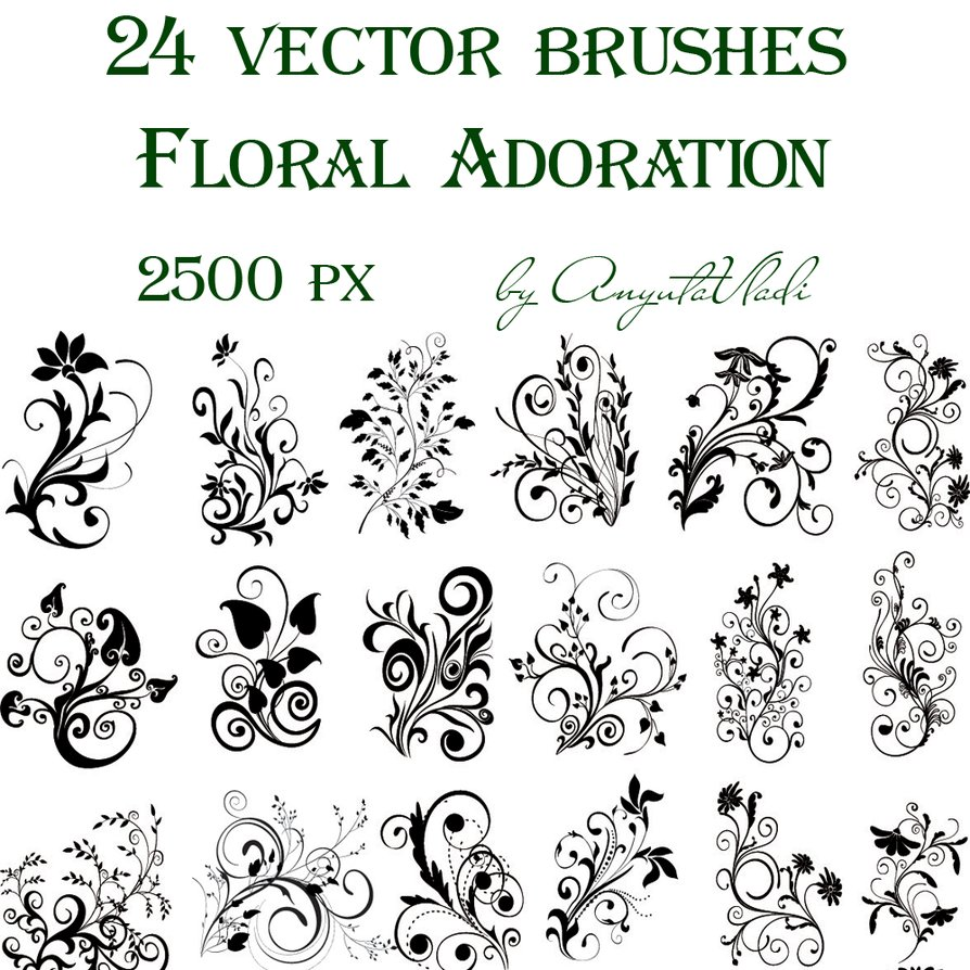13 Spring Swirls Vector Photoshop Images