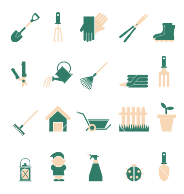6 Garden Icons Free Images