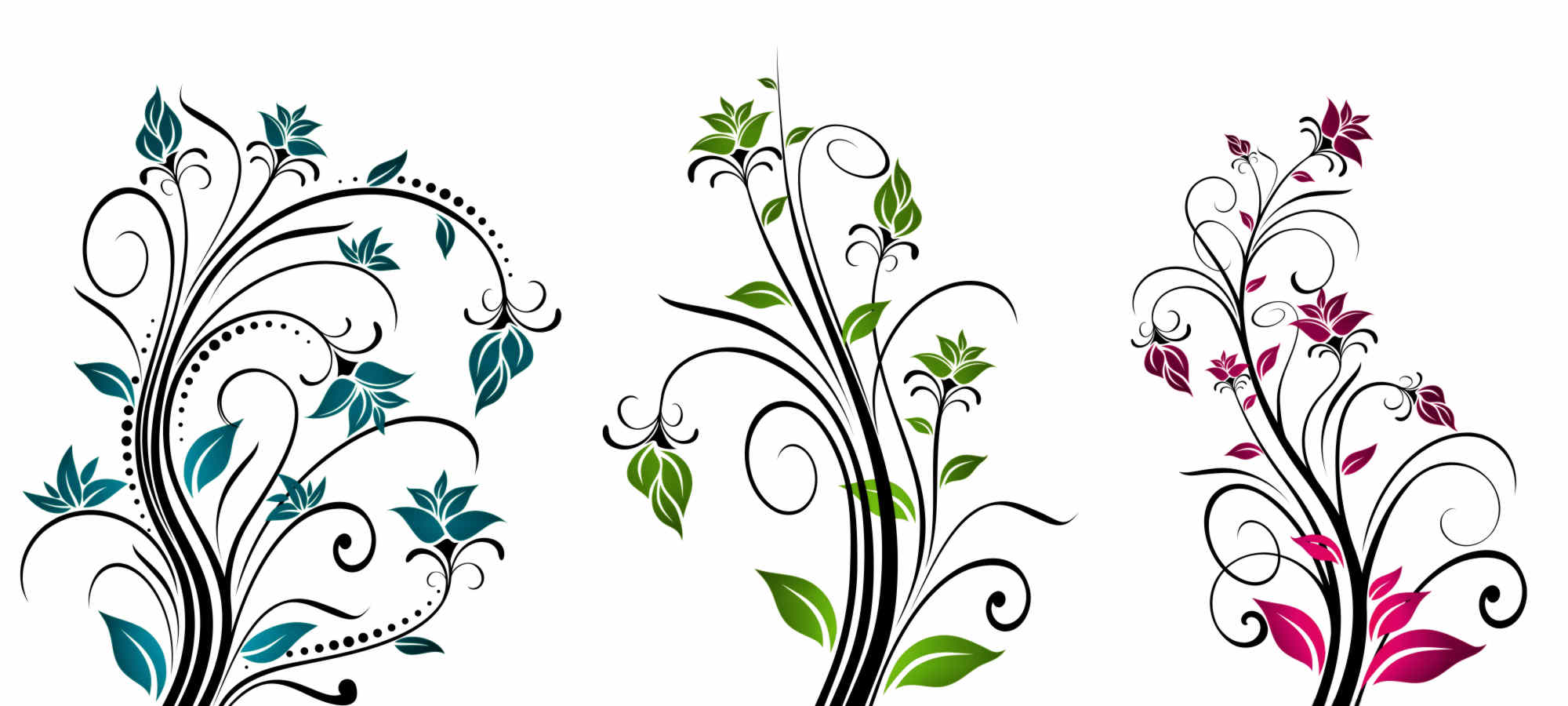 Graphic Design Flowers Clip Art