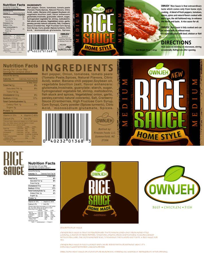 Graphic Design Food Label