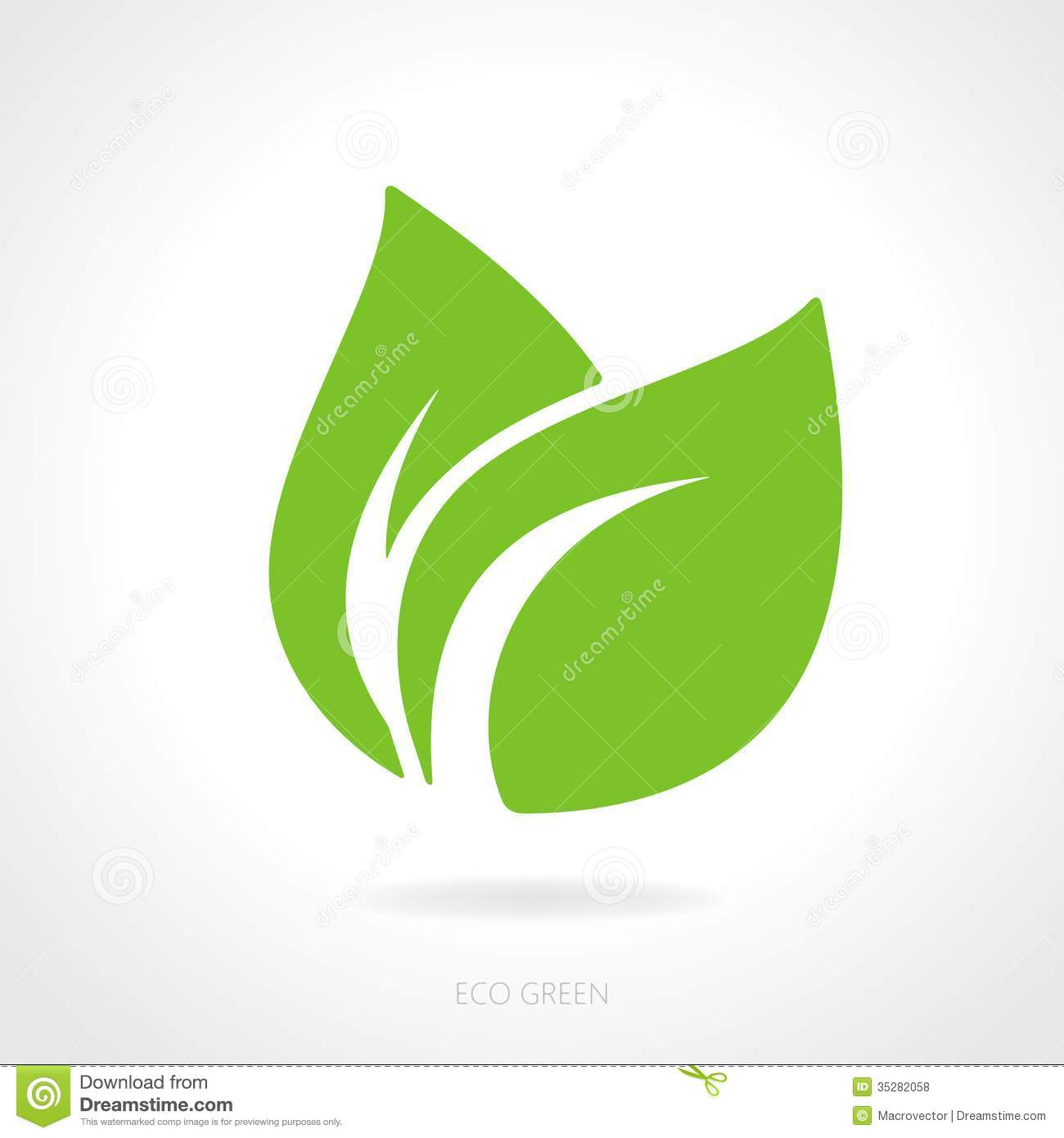 Green Eco-Leaf Vector Image