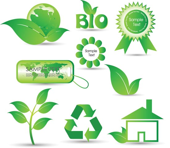 Green Vector Labels