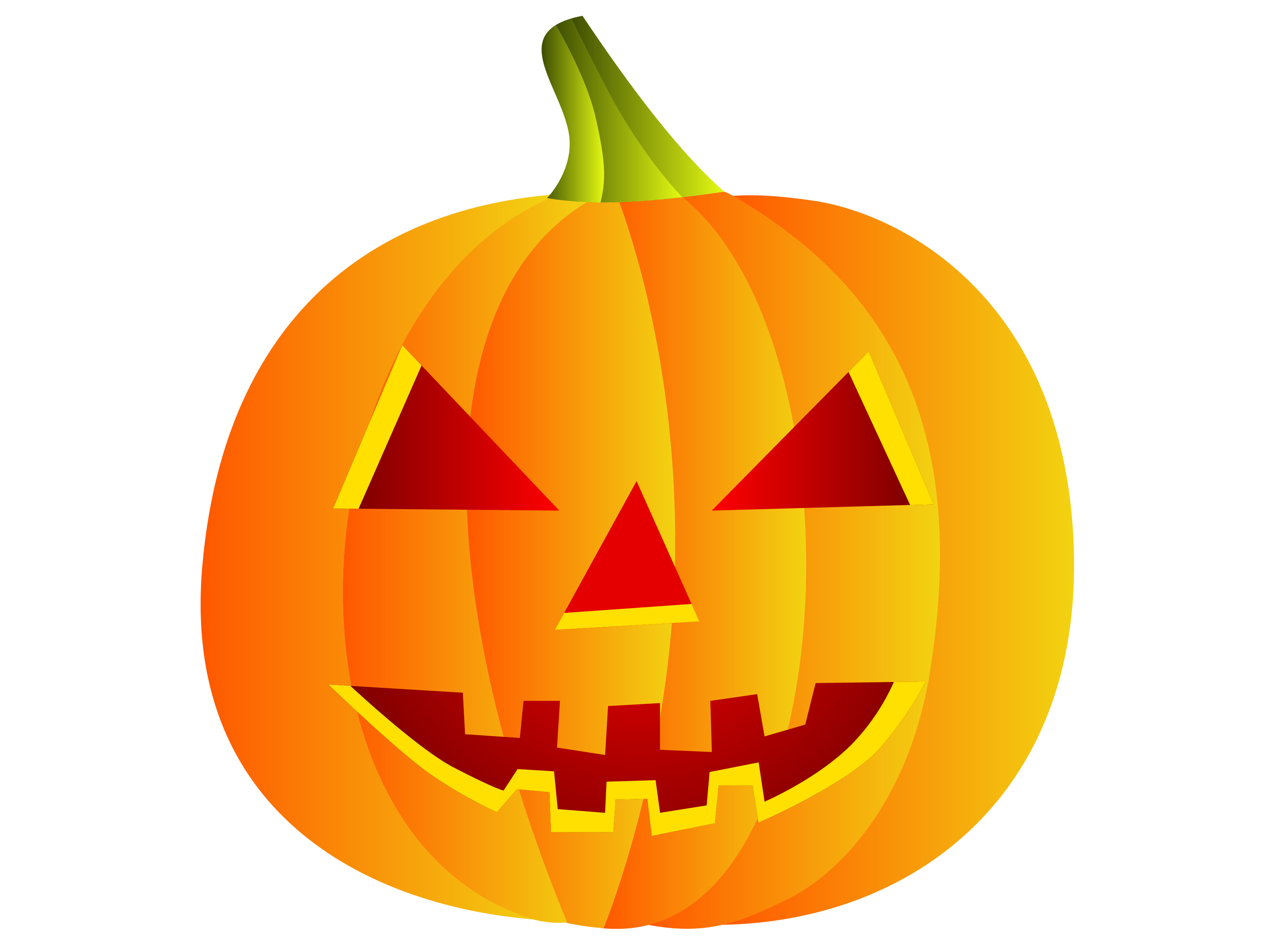 7 Halloween Vector Pumpkins Images