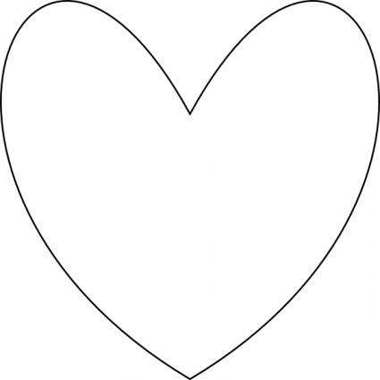 Heart Outline Clip Art Free