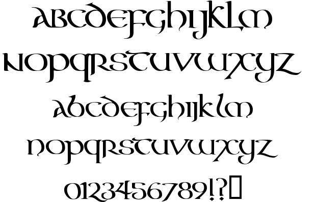 Irish Celtic Fonts Alphabets