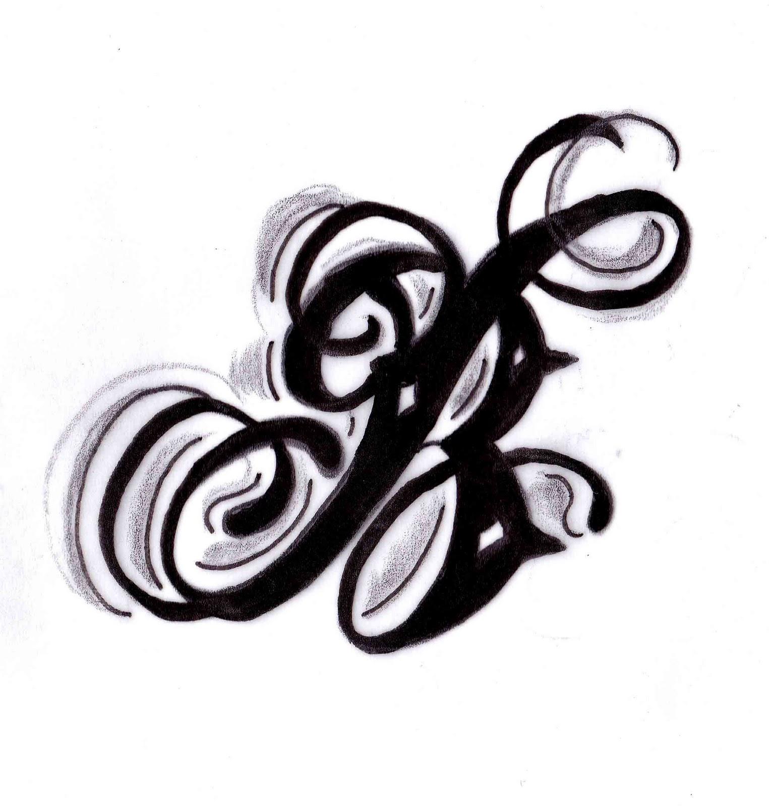 Letter B Tattoo Designs