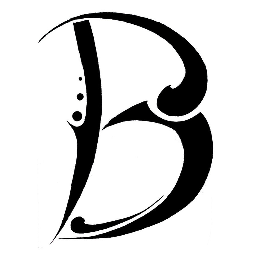 letter b tattoo designs