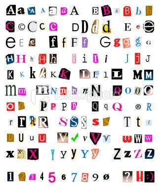 Magazine Cut Out Font