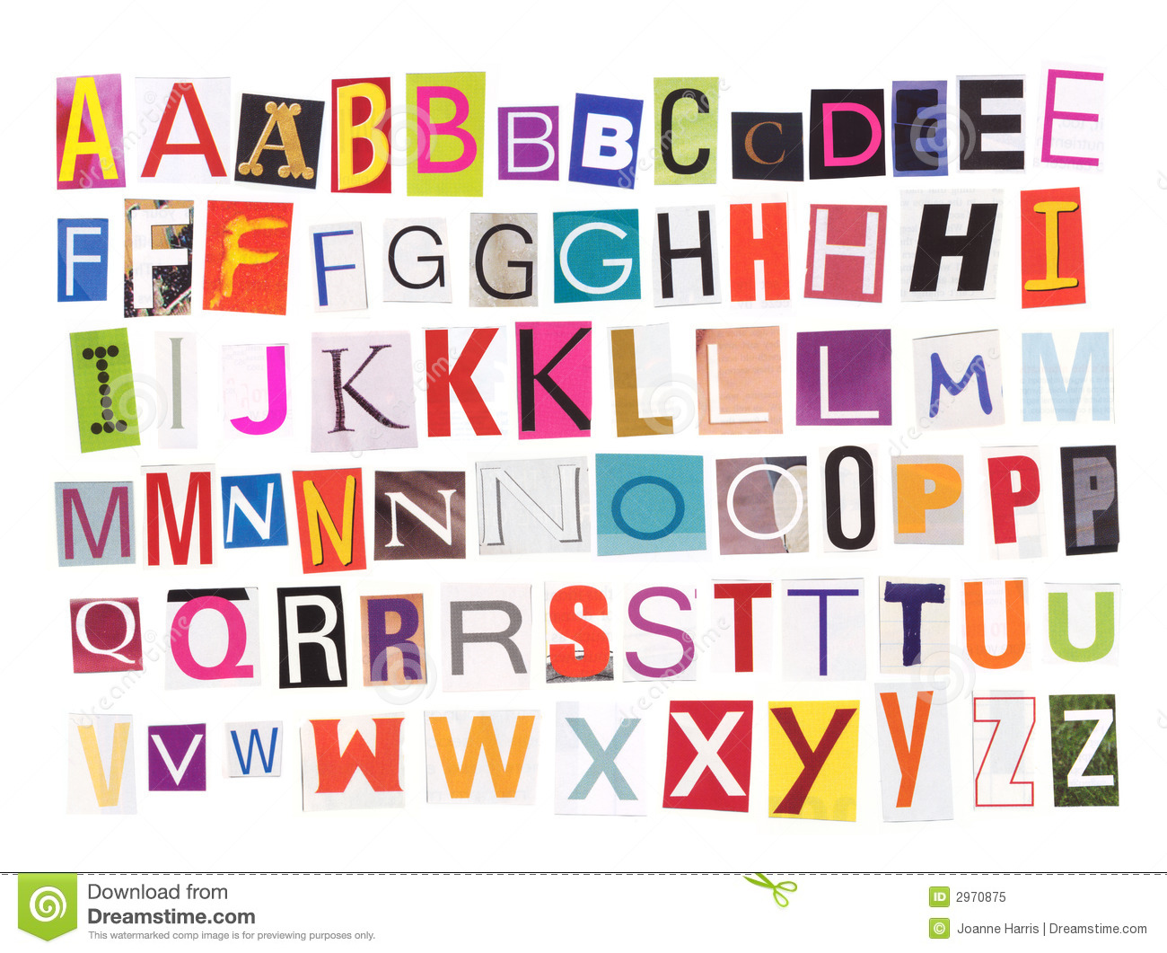 Magazine Letters Cut Out