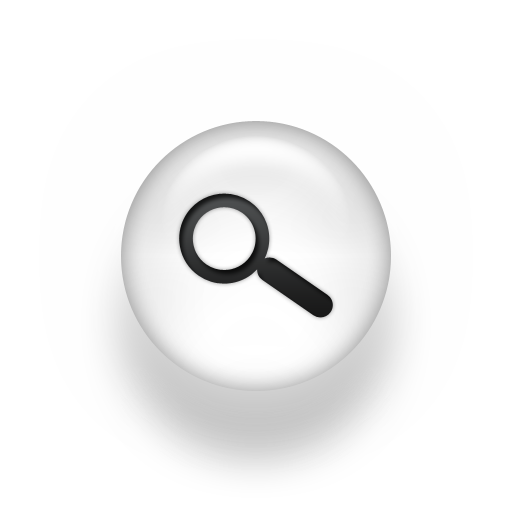 Magnifying Glass Icon White