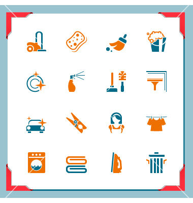 Maid Cleaning Icons