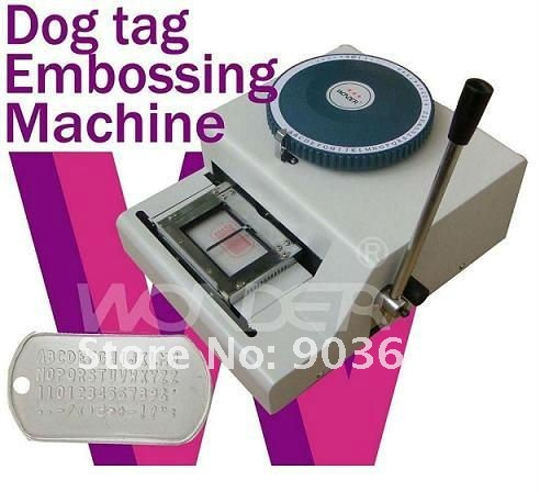 Metal Embossing Machine Dog Tags