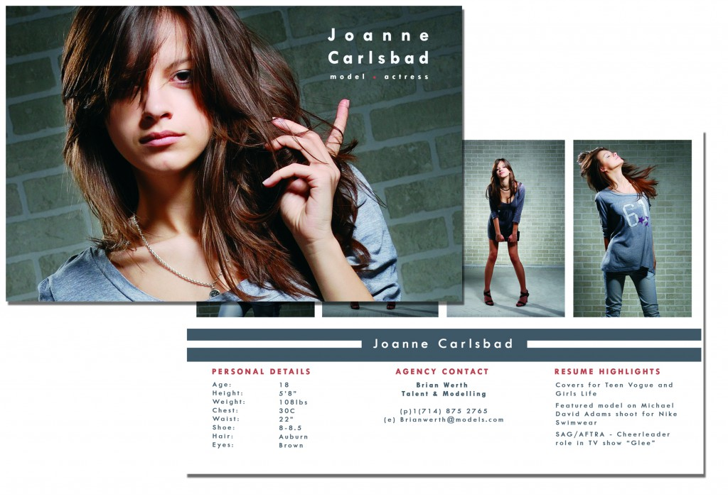 16 for models comp cards psd images