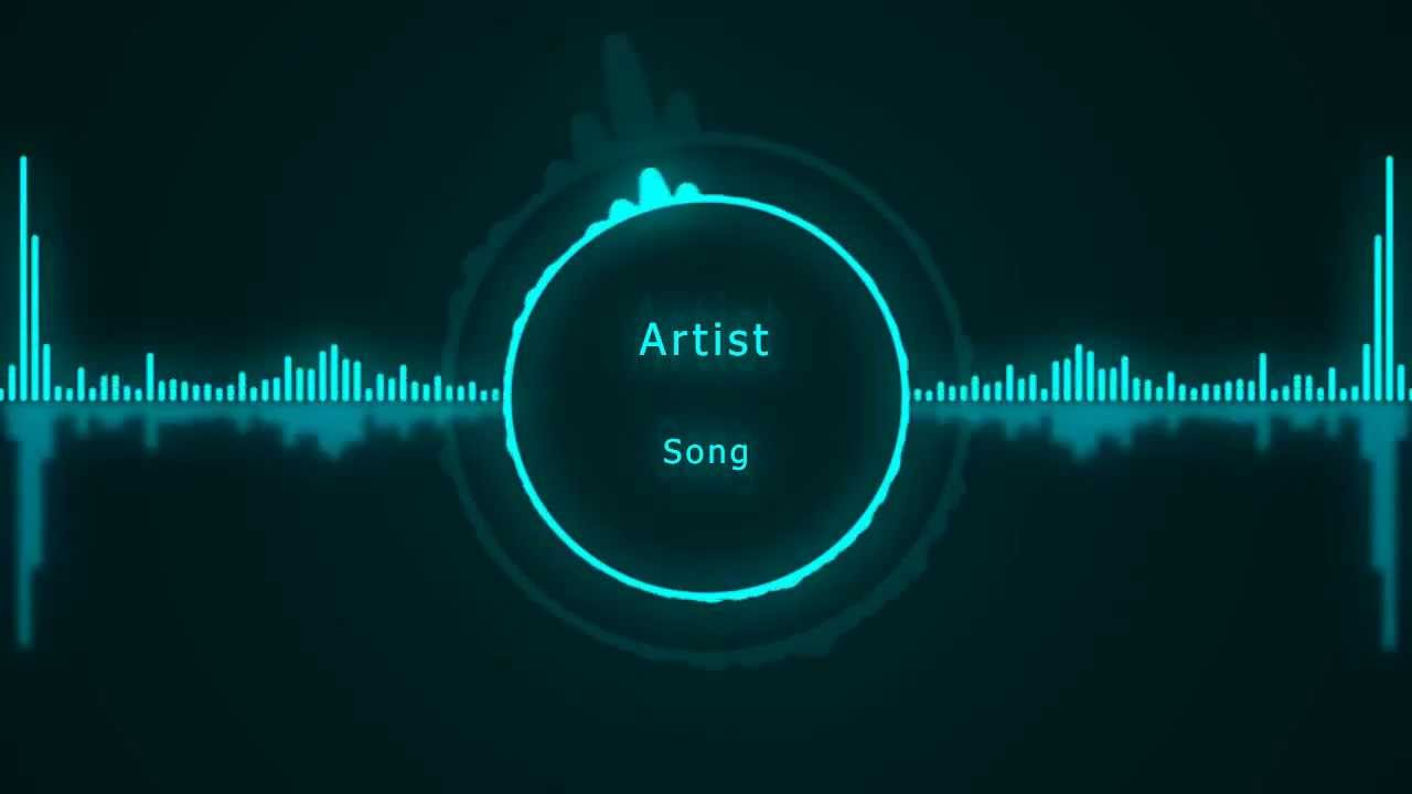adobe after effects template logo via music visualizer download