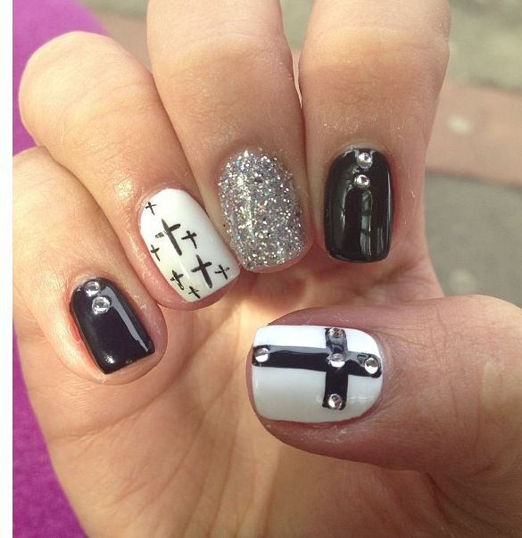 11 Cross Nail Designs Images