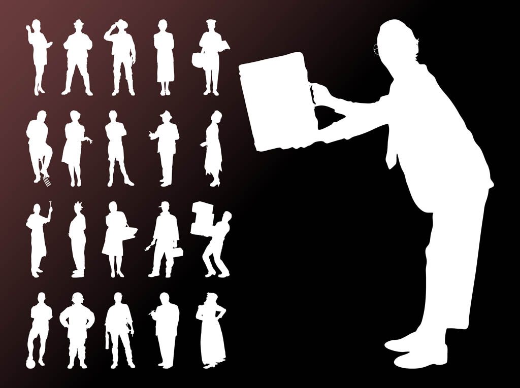 People Silhouettes Free Graphics