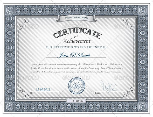 Photoshop Award Certificate Template Free