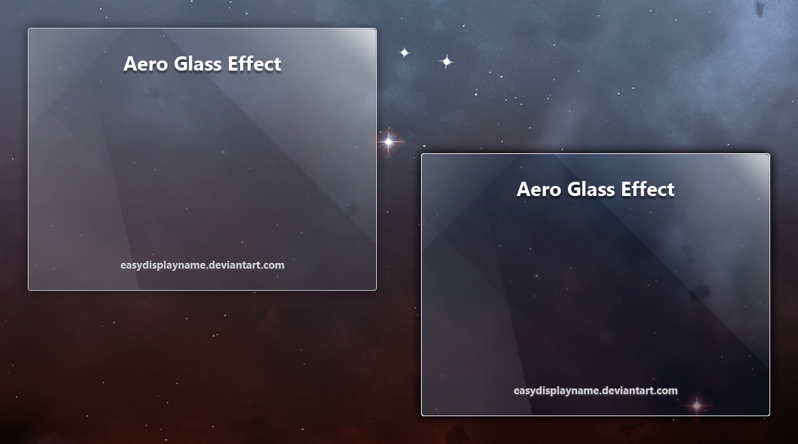 Photoshop Glass Effect Window
