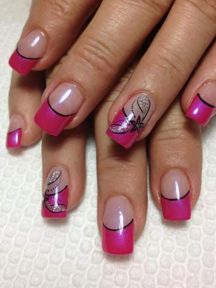 pink tip nail design - Nail Tip Designs Ideas