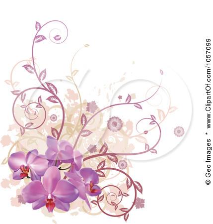 Purple Flower Vine Clip Art Free