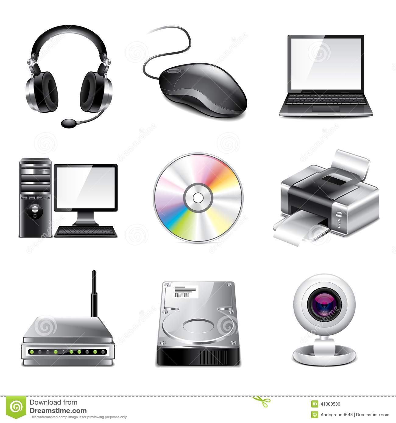 Realistic Computer Icons