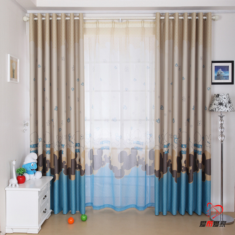 Red and Blue Window Curtains