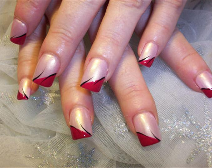 13 Red Nail Tip Designs Images