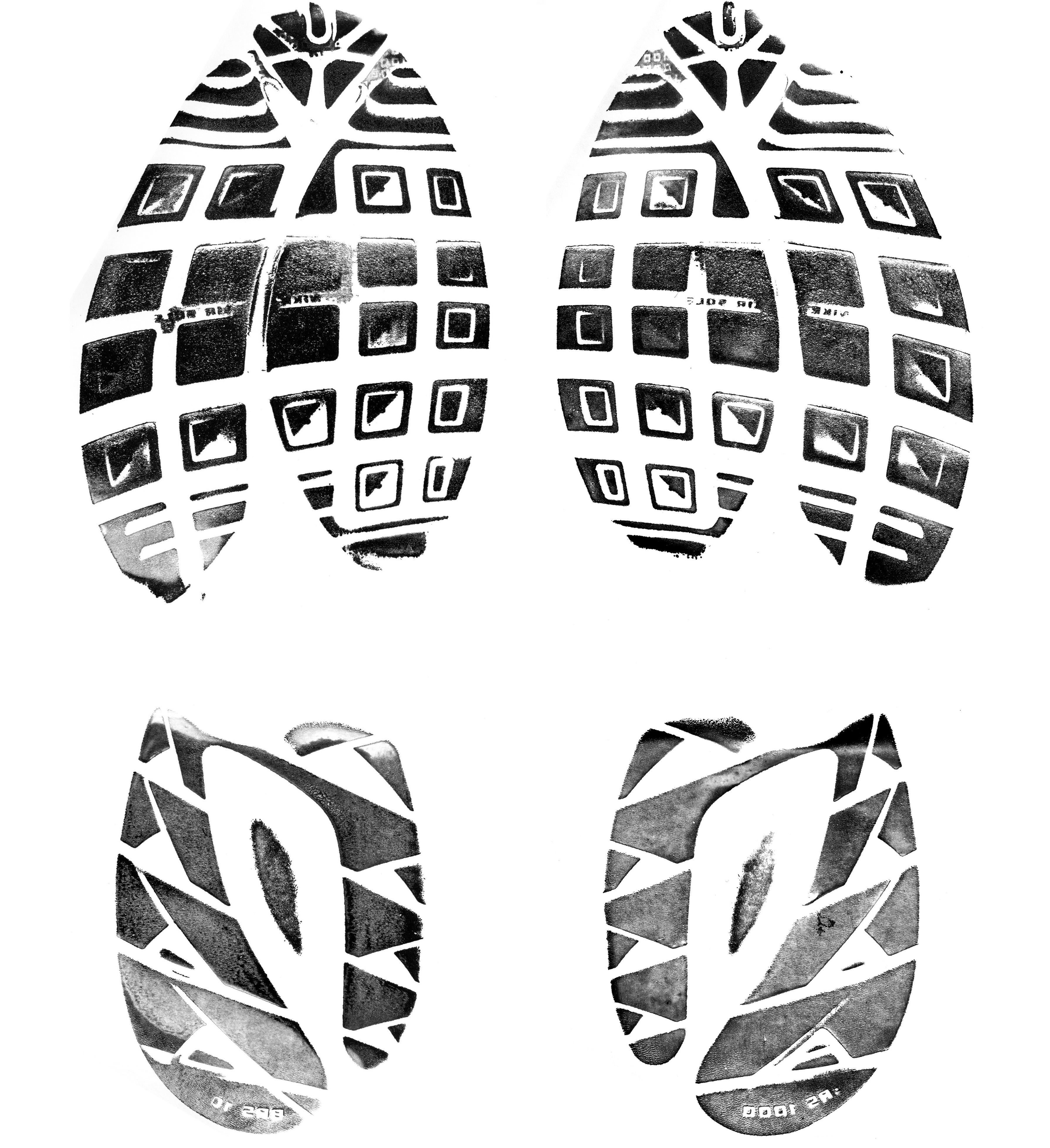 Running Shoe Print Clip Art