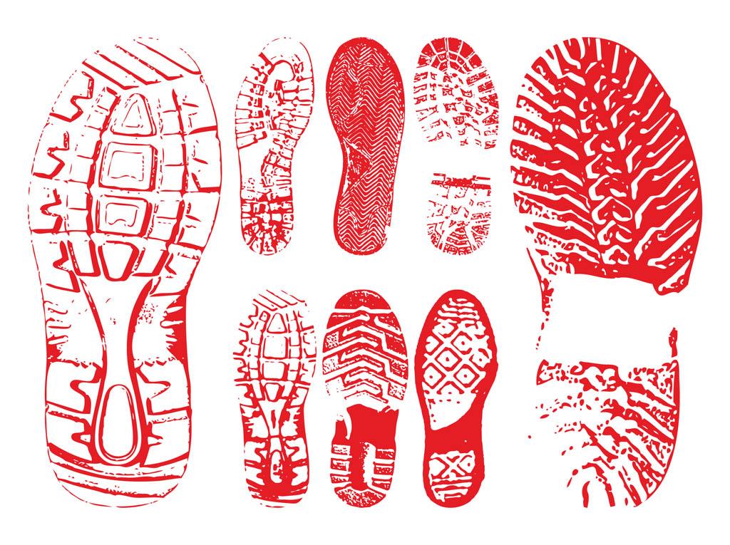 Shoe Print Vector Art