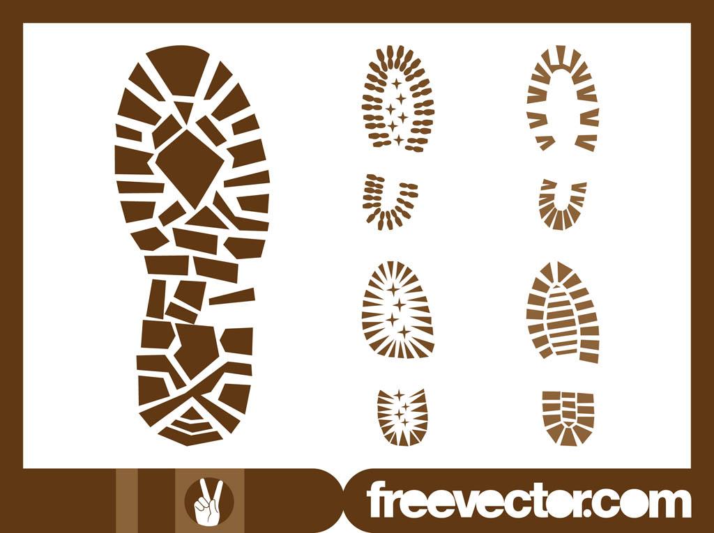 Shoe Print Vector Free