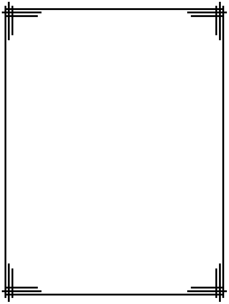 Simple Line Page Border Designs