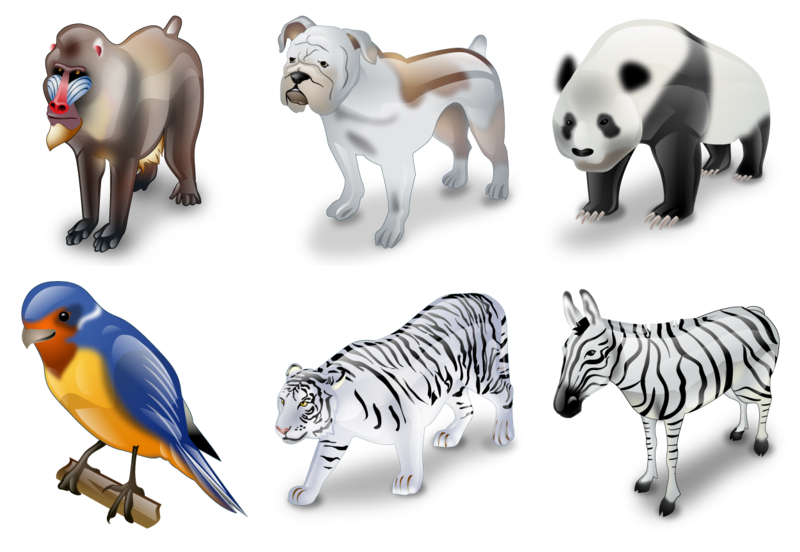 17 Realistic Animal Icons Images