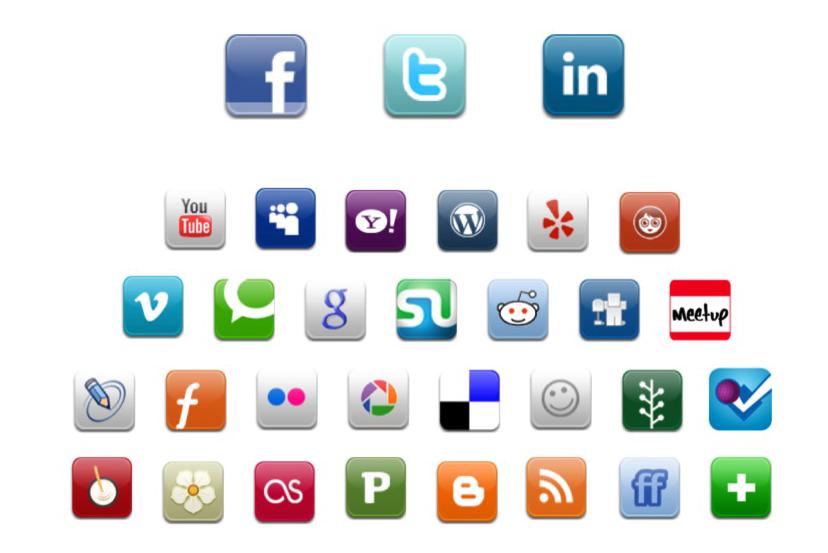 Social Media Icons Names