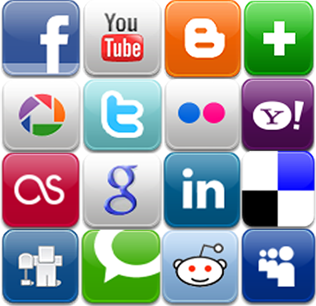15 Social Media Icon Buttons Images