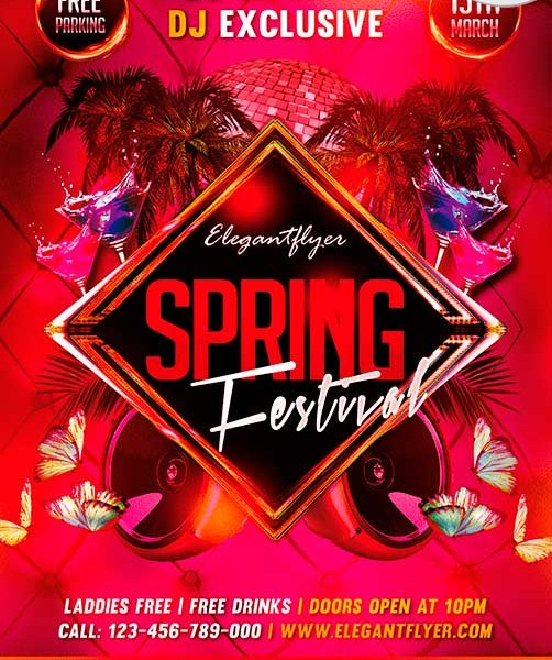 Spring Festival Flyer Template Free