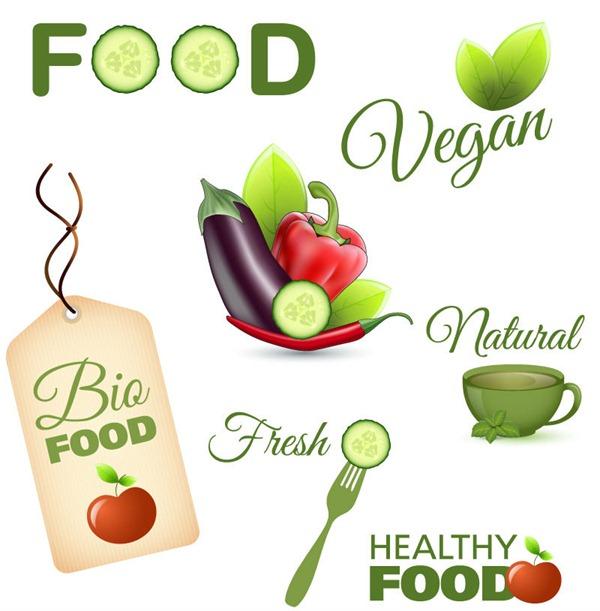 Vector Labels Food