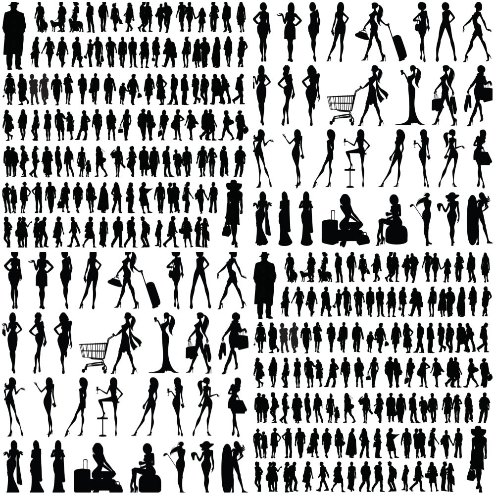 Vector People Silhouettes