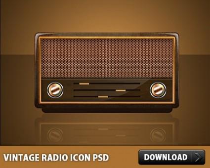 8 Vintage Radio PSD Images